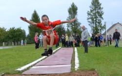 Финиш районной школиады и легкоатлетического чатырохборъя